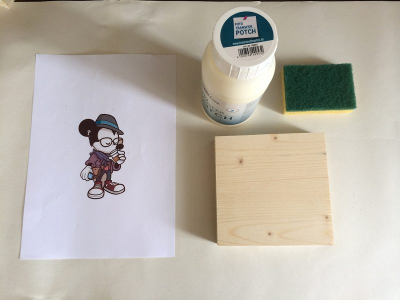 Holzdruck Bilder Auf Holz übertragen Upcyclers