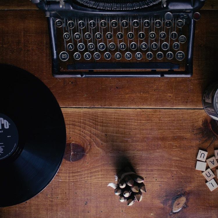 alte Schreibmaschine, Schallplatte