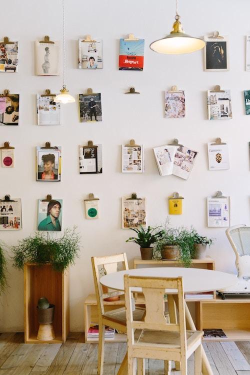 Briefklemmer als Bildhalterung