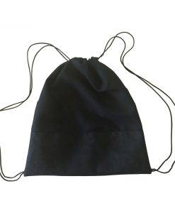 Turnbeutel mit schwarzem Kunstleder