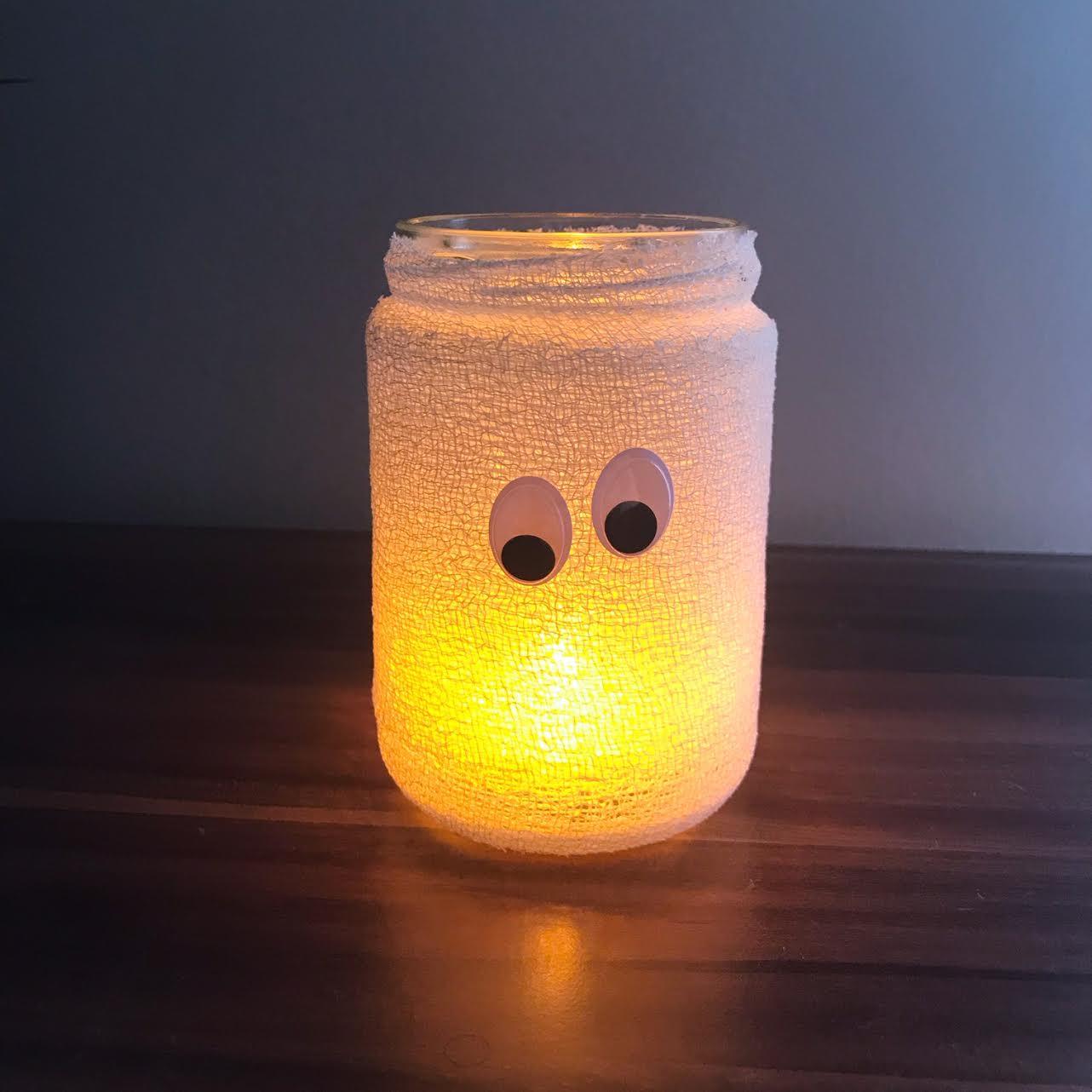 Halloween Gespenster Windlicht