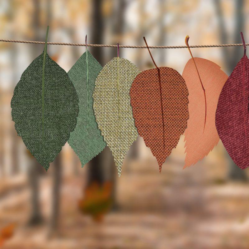 Herbstblätter als Stoff