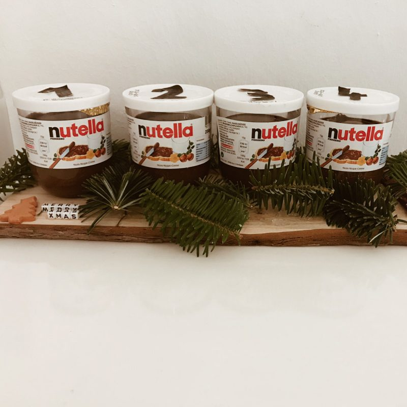Nutella Adventkranz
