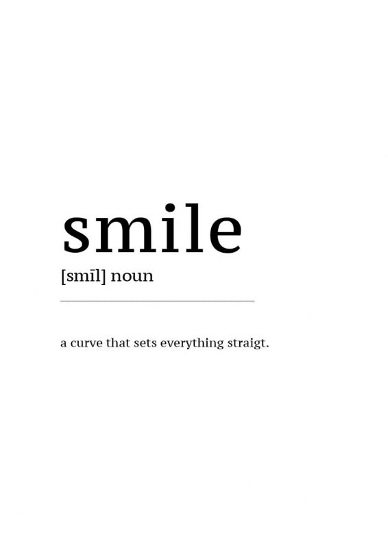 Gratis Poster download Definition Smile