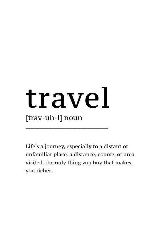 Poster Defintion Travel