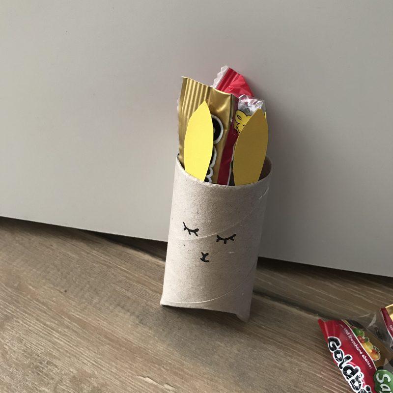 Klopapierrolle Geschenkverpackung für Ostern