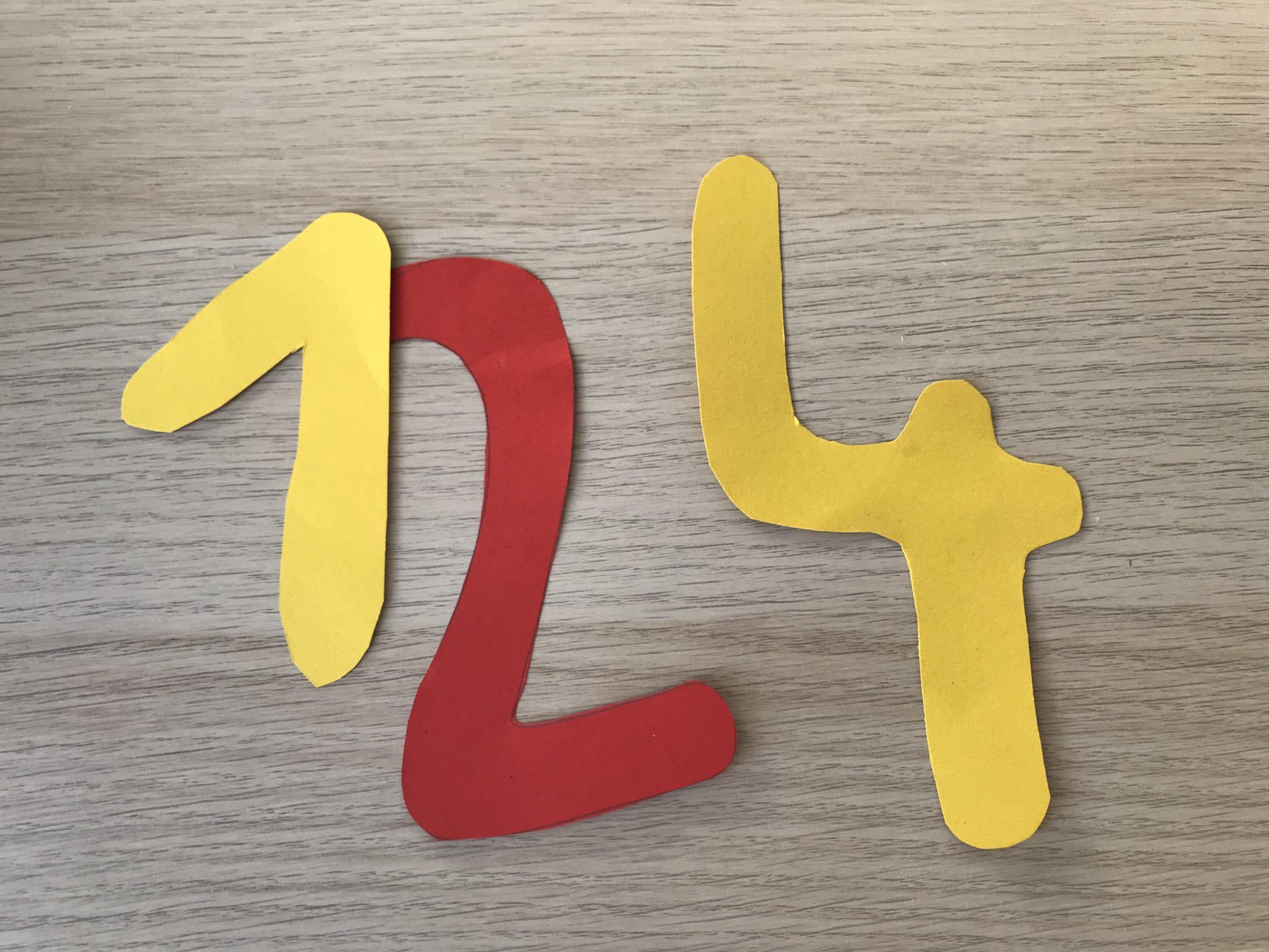 Montessori Zahlenübung