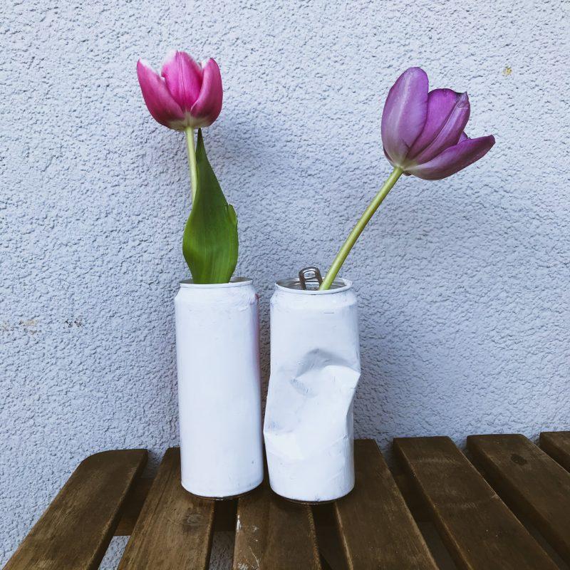 Dosen als Vasen