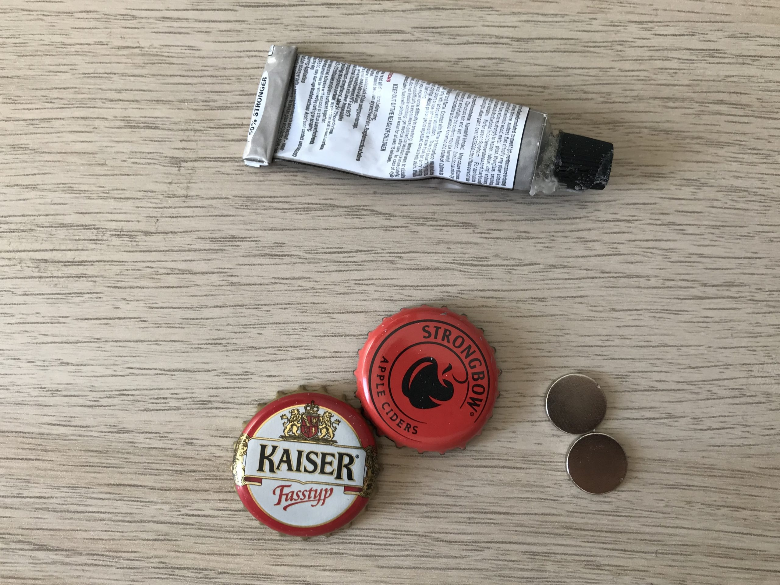 Material Kronkorkenmagnet