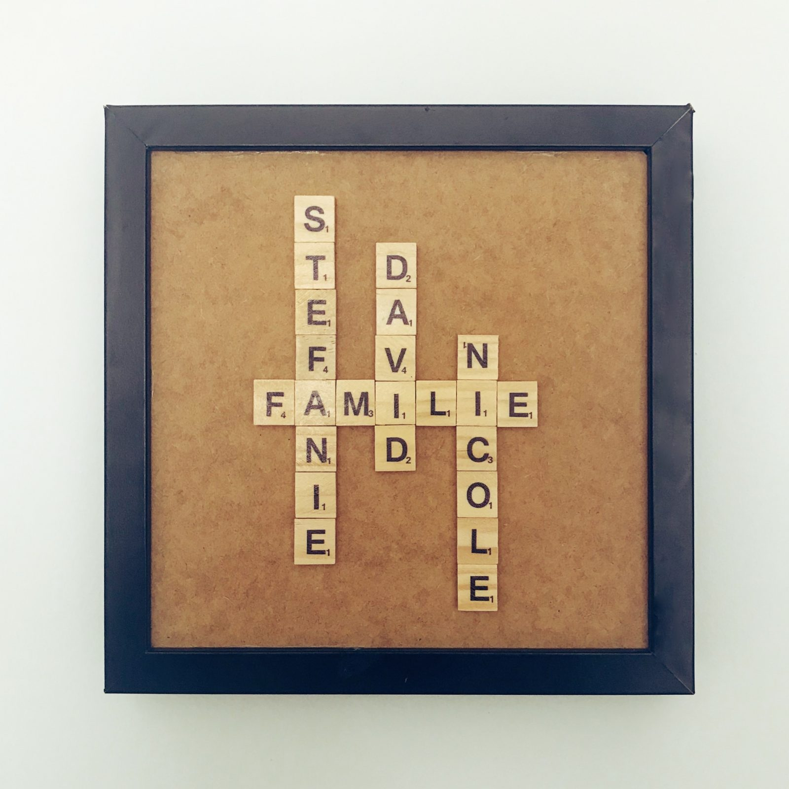 Scrabble Name Familie Bild