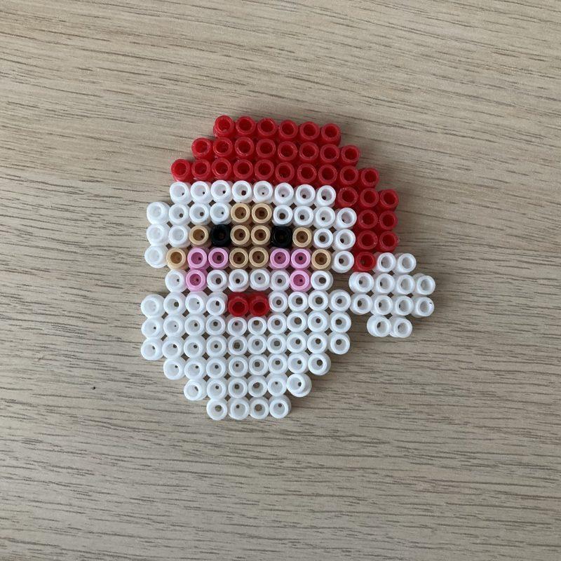Bügelperlen Weihnachtsmann